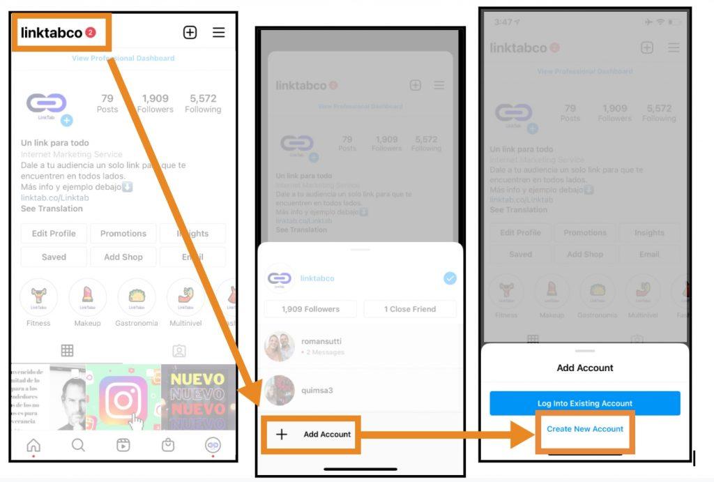 Crear una cuenta nueva de Instagram