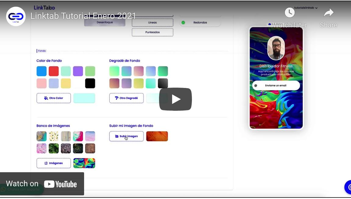 Video Tutorial Para Crear Cuenta en Linktab